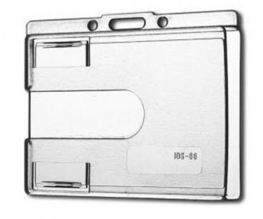 Card Holder Transparent IDS66 with thumb thrust