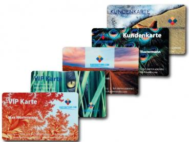 Cards in offset printing