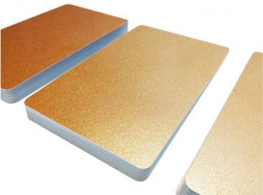 Plastic Cards Bronce Metallic