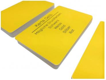 plastic card yellow