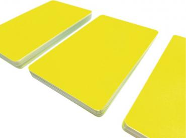 Plastic Cards Neon Yellow