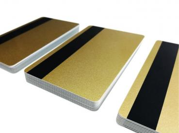 Plastic Cards Gold with Magnetic Strip LoCo 300oe