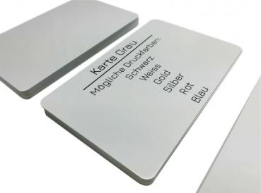 plastic card grey