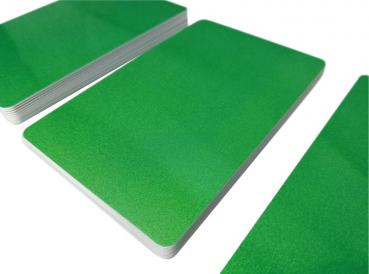 Plastic Cards Metallic Green