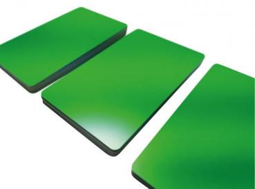 Plastic Cards Green Matt Finish