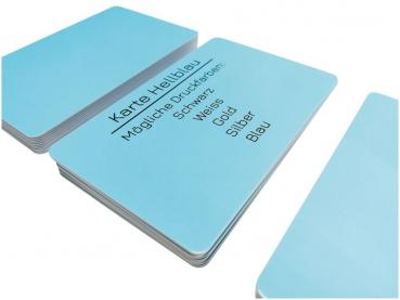 plastic card blue light