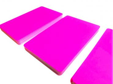 Plastic Cards Neon Pink