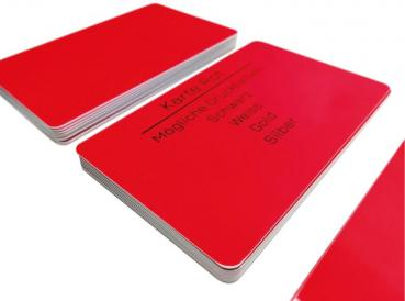 Plastic card red