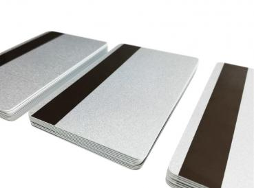 Plastic Cards Silver with Magnetic Strip LoCo 300oe