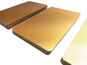 Plastic Cards Soft Gold Dark