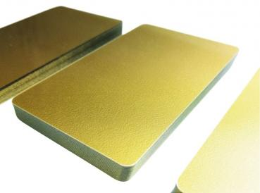 plastic card soft gold light