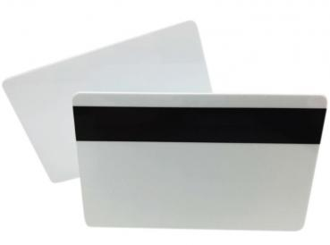 Plastic Cards White with Magnetic Strip Hico 2750oe