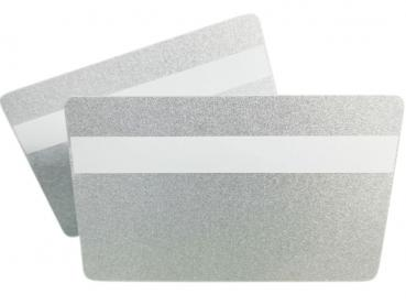 Plastic Cards Silver with Signature Panel