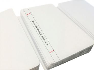 Plastic Cards White with Signature Panel