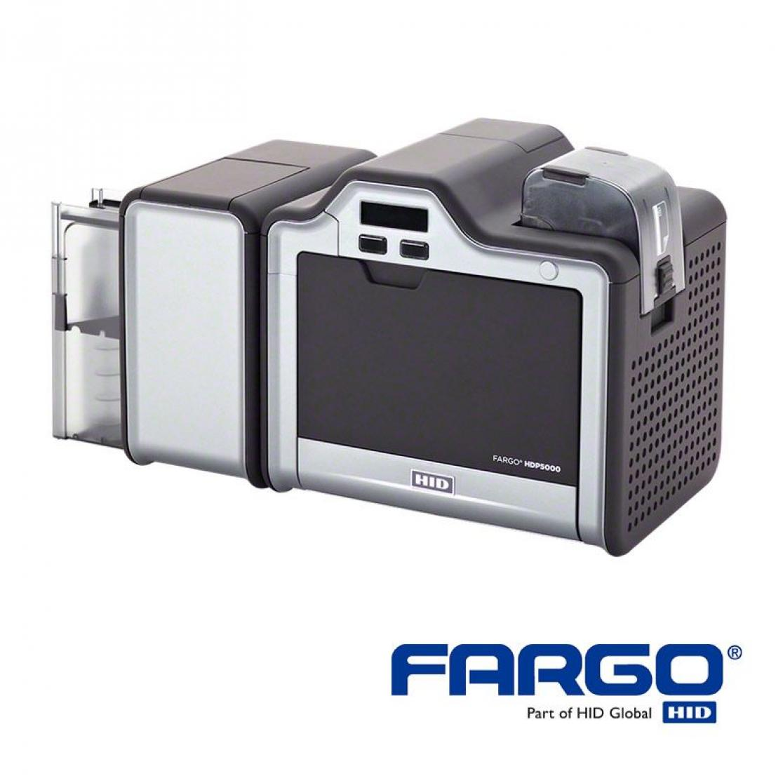 HID Fargo HDP5000 with flipper module