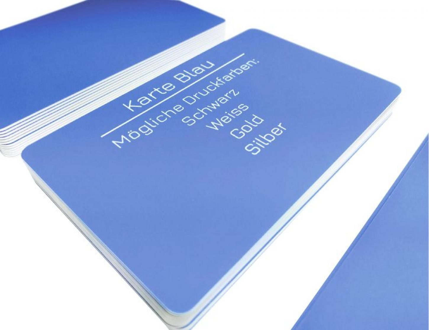 plastic card blue