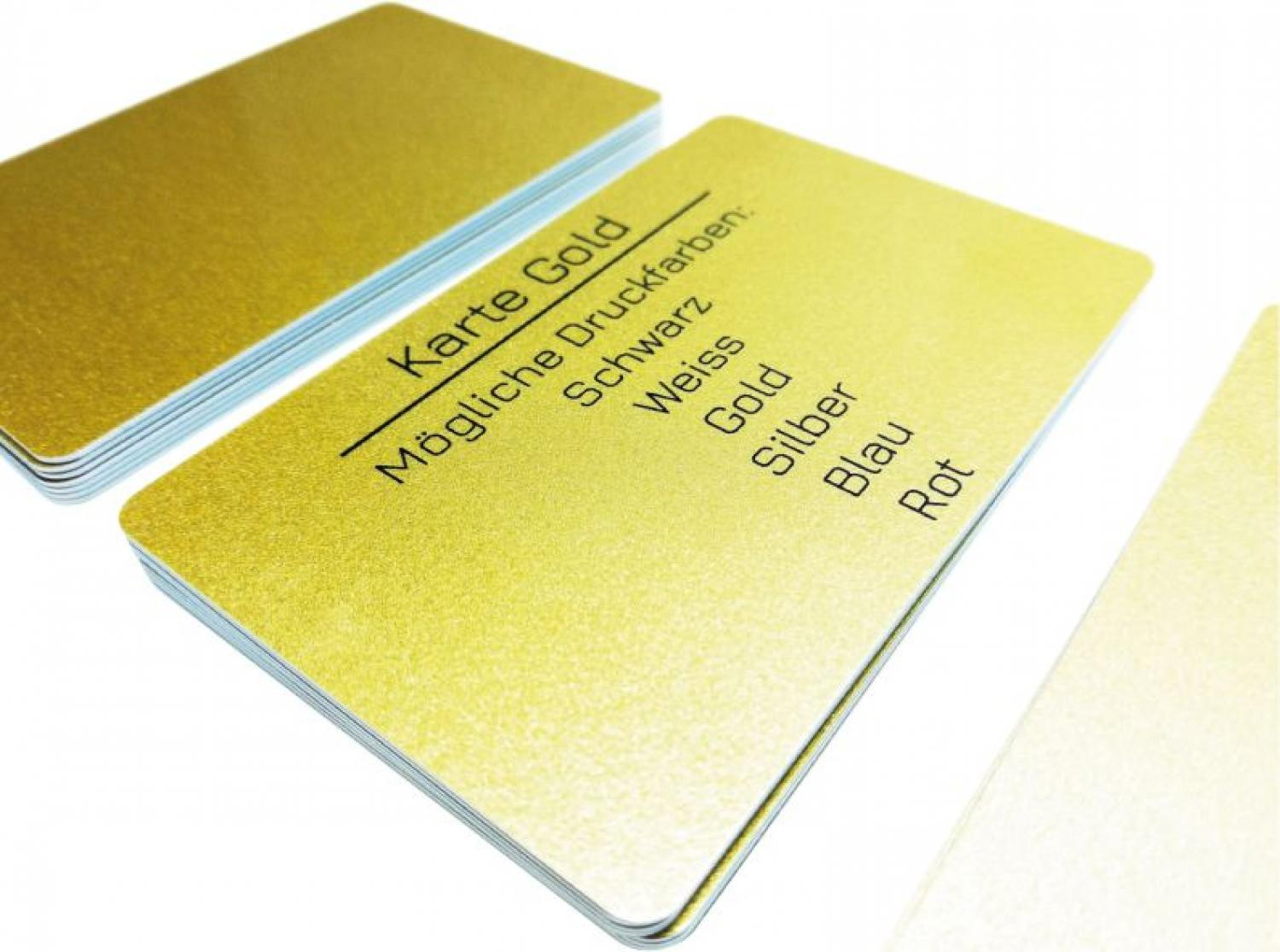 plastic card gold