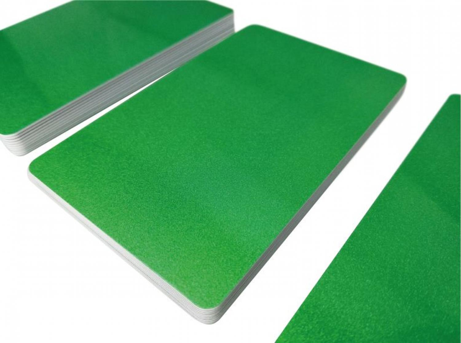 plastic card matallic green