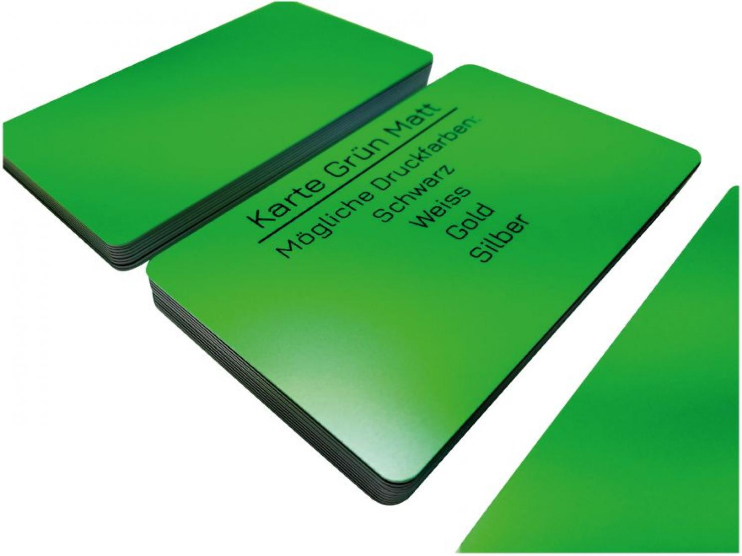 plastic card green matt finish