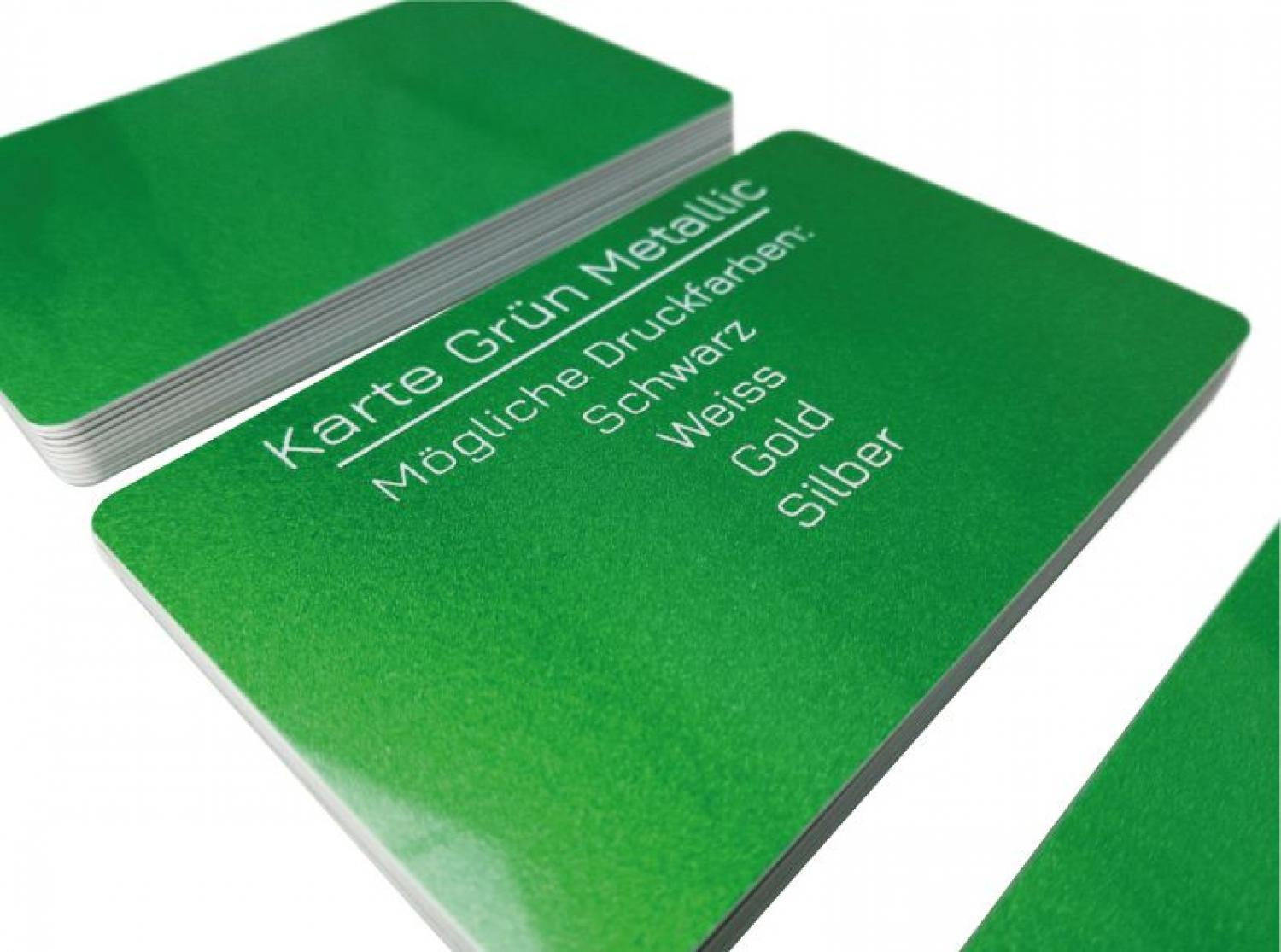 plastic card metallic green