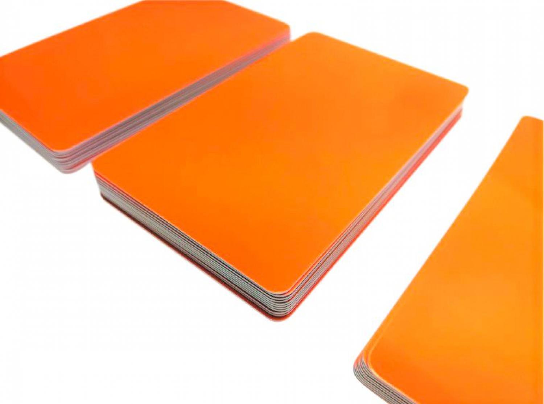 NEU! blanko PVC Karten Hellblau Premium Plastikkarten 5-500 St/ück Kartendrucker 25