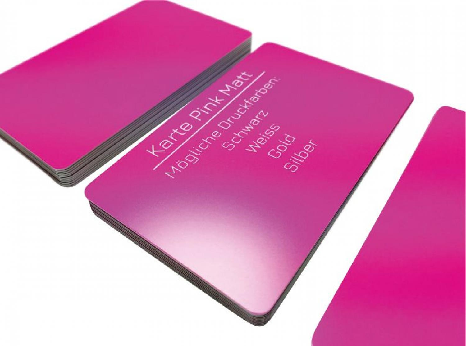 plastic card pink matt finish
