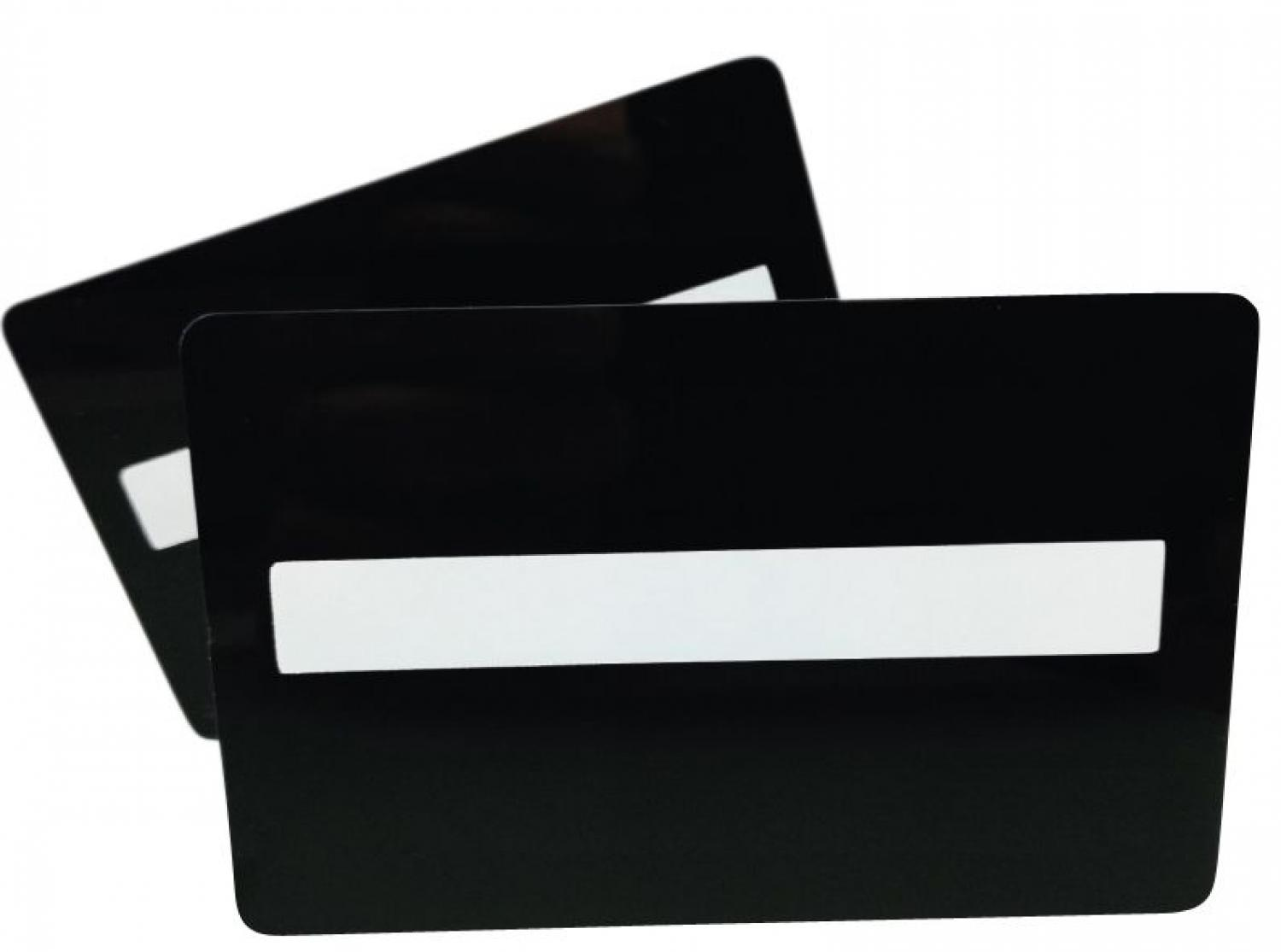 plastic cards black with signature panel