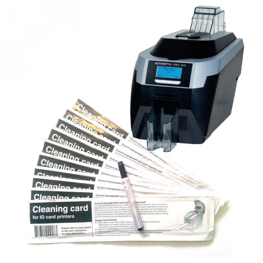 Cleaning kit for card printers authentys pro