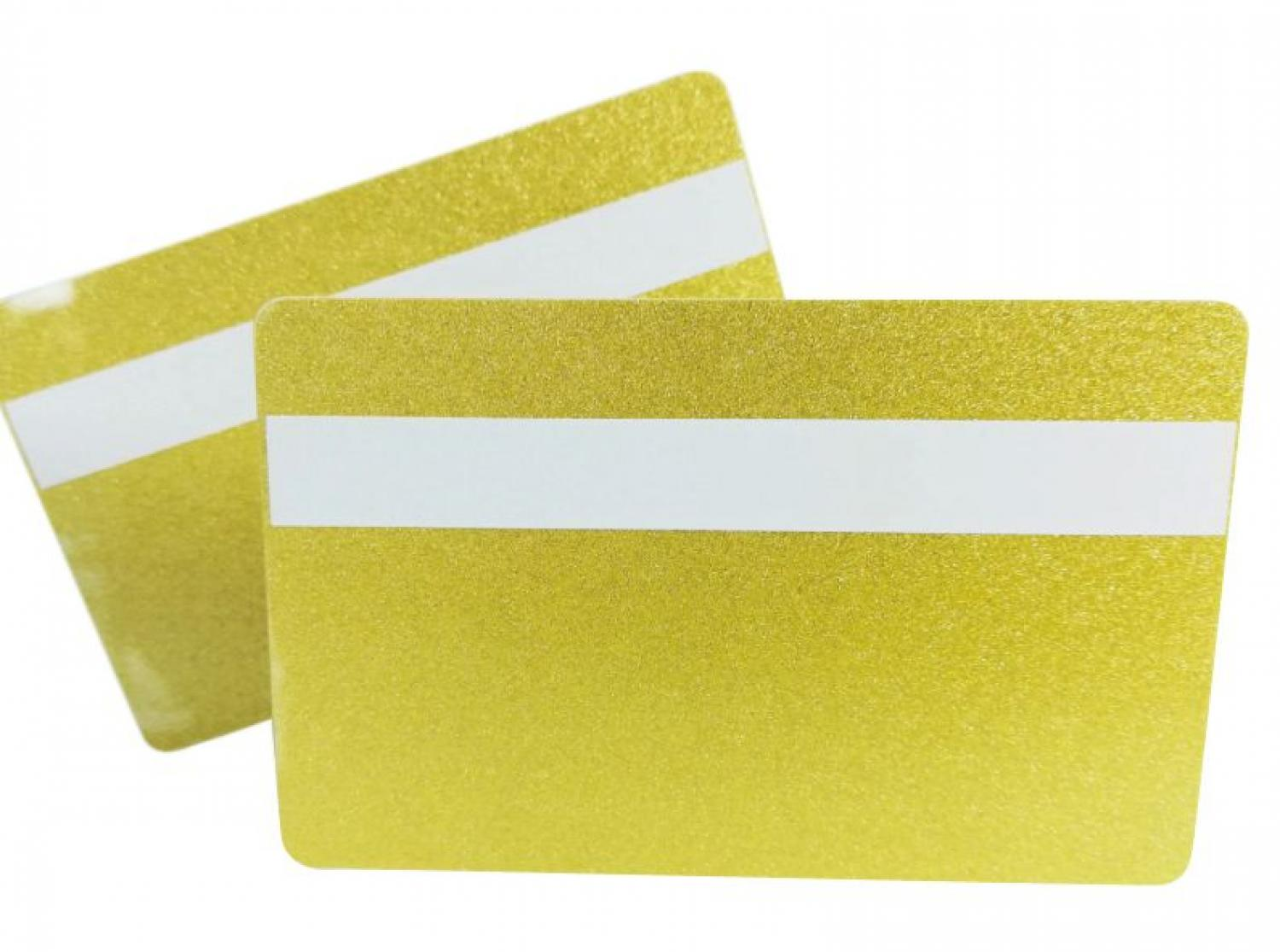 Plastic card gold with signature panel